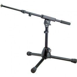 König & Meyer 25950 Heavy-Duty Low Level Microphone Stand with Boom Arm, Black