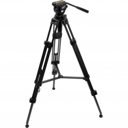 "Magnus VT-4000 Tripod with Fluid Head - Height Adjustable 27.6"" - 59"""