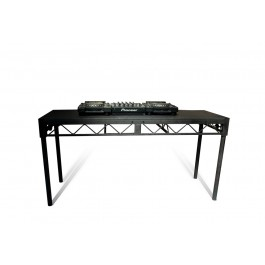 "Steeldeck DJ Work Table - Heavy Duty, 6' x 2', 38"" Height, Black"